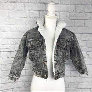 Vintage Levi's Sherpa Acid Washed Jacket 💙
